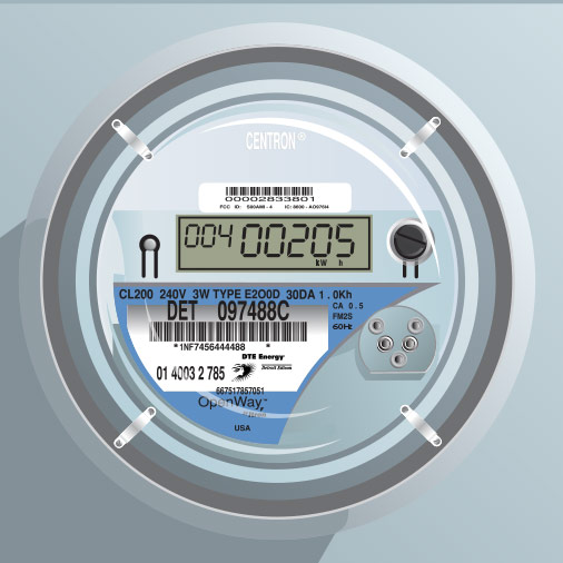 Smart Electric Meter Reading : Dte energy smart meters